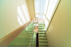 Stairs in modern home interior Royalty Free Stock Image