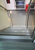 Stairs a modern train stock photography