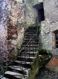 Stairs, Monastery. A crumbling staircase leads into a monastery in Tallinn, Estonia Royalty Free Stock Photo