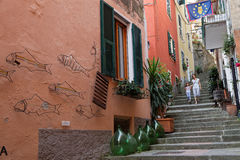 In the stairs of Monterosso Royalty Free Stock Photo