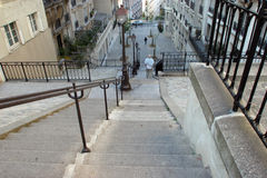 Stairs at Montmartre Royalty Free Stock Images