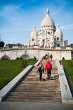 Stairs in Montmartre Royalty Free Stock Photos