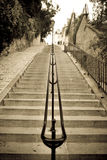 The Stairs Montmartre. Classic stairs of Montmartre, in Paris. Artistique picture Royalty Free Stock Image