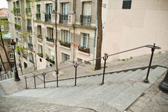 Stairs in Montmartre. Paris - France Royalty Free Stock Image