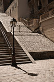 Stairs in Montmartre Royalty Free Stock Images
