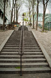 Stairs in Montmartre Royalty Free Stock Photography