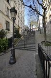 Stairs Of Montmartre, Paris Royalty Free Stock Photos