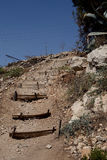 Stairs mountain near Jerusalem. In a residential area Stock Photo
