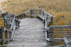 Stairs at Muskegon State Park Royalty Free Stock Image