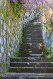 Stairs. Narrow old stairs in Taormina Royalty Free Stock Photo