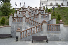 Stairs near Svyato-Uspensky cathedral Stock Photo