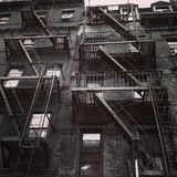 Stairs. In New York city black and white Royalty Free Stock Photos