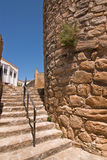 Stairs next to the Mudejar tower, Sabiote Stock Photos