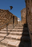 Stairs next to the Mudejar tower Royalty Free Stock Photography