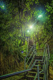 Stairs at Night. Winding stairs t Kangaroo point, Brisbane Australia Stock Image