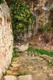 Stairs of the Ünye Castle (Turkey) Royalty Free Stock Photo