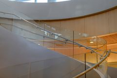 Free Stairs Of A Modern Building With Glass Balustrades Stock Photo - 143104590