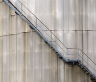 Stairs on oil silo Royalty Free Stock Photos