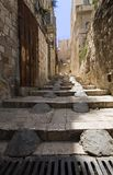 Stairs in the old city of Jerusalem. Very large photo Royalty Free Stock Photography