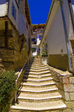 Stairs in old city of Ohrid. Stairs connecting narrow alleys in old city of Ohrid Royalty Free Stock Photos