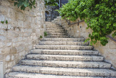 Stairs. At the old city of Tzfat, Israel Stock Image