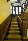Stairs in Old House. Wood Carved Stairs in Old House Vertical Royalty Free Stock Photo