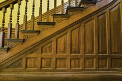 Stairs in Old House 3. Wood Carved Stairs in Old House Details Royalty Free Stock Images