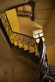 Stairs in old polish house Royalty Free Stock Images