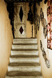 Stairs in old rustic house Royalty Free Stock Photography