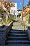 Stairs in old town of Xanthi, East Macedonia and Thrace Stock Photography