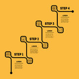 Stairs with 4 options, upward steps template. Business presentat. Ion, timeline or Infographics Royalty Free Stock Photos