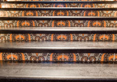 Stairs ornamented in oriental style Royalty Free Stock Photos