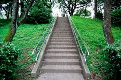 Stairs outside is taken around Tokyo, Japan. It was pictured in the summer season.  stock image