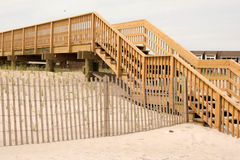 Stairs over the dunes in Fire Island stock image