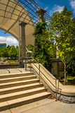 Stairs at Pack Square Park in Asheville, North Carolina. Royalty Free Stock Images