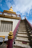 Stairs with pagoda in the temple Royalty Free Stock Photography