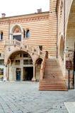 Stairs at Palazzo della Ragione, Verona, Italy Royalty Free Stock Photo