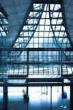 Stairs and panaramic view of hall Stock Image