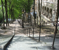 Stairs in Paris. Leading the way downtown to new adventures Stock Photos