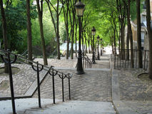 Stairs in Paris 2. Leading the way downtown to new adventures Royalty Free Stock Photos