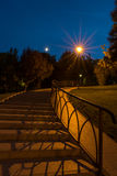 Stairs in the park at midnight Stock Photos