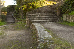 Stairs in the park Royalty Free Stock Photos