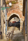 Stairs passage. In an old street from Le Mans,France Royalty Free Stock Image
