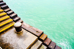 Stairs of the pier Stock Image