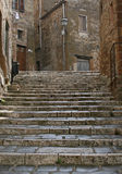 Stairs in Pitigliano Royalty Free Stock Photo