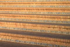 The stairs of the place of Spain in Seville Stock Photography