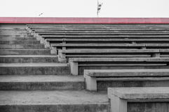 Stairs and places to sit made of concrete. Stock Images