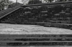 Stairs and places to sit made of concrete. Royalty Free Stock Photography