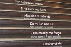 Stairs and poetry in House of the Peruvian Literature, Trazos cortados Stock Photography