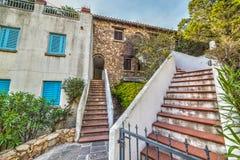 Stairs in Porto Rotondo. Sardinia stock images